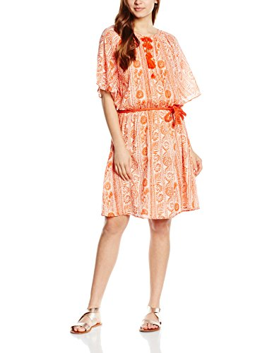 Antik Batik Ewan - Robe - Manches Courtes - Femme Orange
