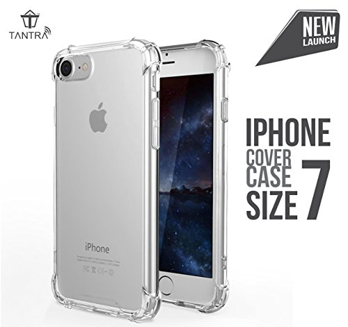 Tantra Multipurpose Protective Cover Case with Transparent Soft Gel Back Flexible TPU Gel Bumper for Apple iPhone 7
