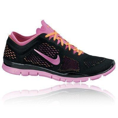 Nike Laufschuhe Free 5.0 TR FIT 4 Damen black-red violet-atomic orange (629496-002), 36,5, schwarz