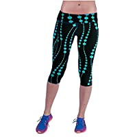 Tonwalk Women Yoga Sport Pants Printed Leggings (Blue, L(28))