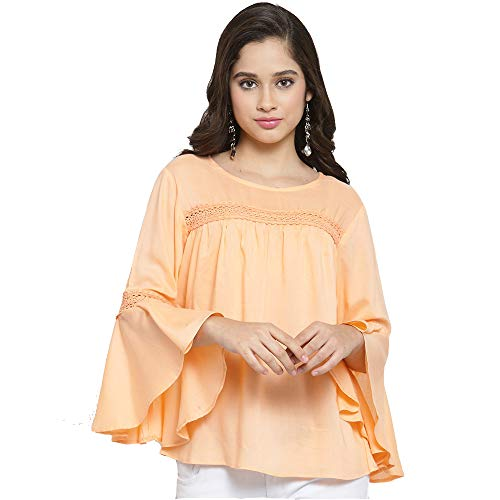 indietoga Women's Peach Rayon Top (10001199, Plus, 5X-Large)