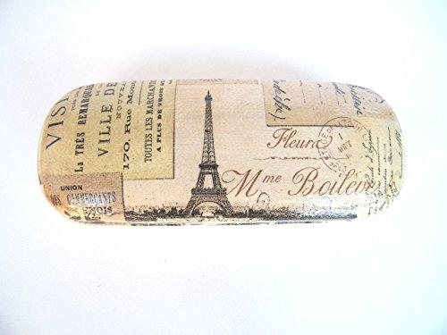 Paris Estuche De Gafas, Funda Dura Para Gafas 16 cm, Vision Accesorios Para Mujer, Gafas Graduadas, Paris Vintage Card, Eiffel Tower Glasses Case