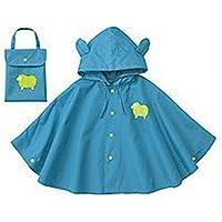 Mainaisi Bambini Poncho Impermeabile Waterproof Big Ear con Cappuccio Button Suit