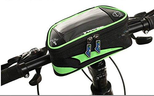 XY&GKFahrrad Front Tasche Handy Tasche obere Rohr Beutel Mountainbike Reiten Ausrüstung Musik Navigation Cross Bag, machen Ihre Reise angenehmer Blue