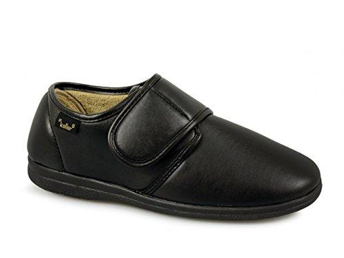 Dr Keller ,  Herren Sneaker Low-Tops Nero (Negro - negro/velcro)