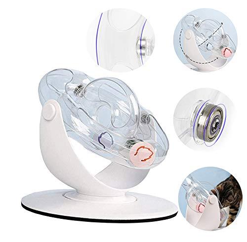 WTTTTW Katzenspielzeugbälle, 360 ° -Raumspielzeug mit drehendem Ball Katzentrainingstraining-Spielzeug Pädagogisches Fangspielzeug mit Laufrolle
