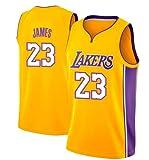 VICTOREM Lebron James #23 Maglia da Basket per Uomo - NBA Lakers Jersey, Nuovo Tessuto Ricamato Camicia T-Shirt Sportive Swingman (M-XXL)