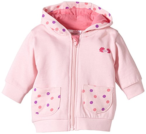 Twins Baby - Mädchen Sweatjacke mit Kapuze, Einfarbig, Gr. 56, rosa (13-2804 - rosé)