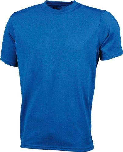 James & Nicholson Herren Langarmshirt Funktions T-Shirt Mens Active Blau - Royal