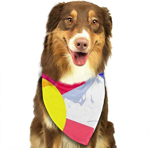 Sdltkhy Colorado Snow Mountain Pet Dog Cat Bandanas Triangle Bibs Pet Scarf Dog Neckerchief Headkerchief Pet Accessories