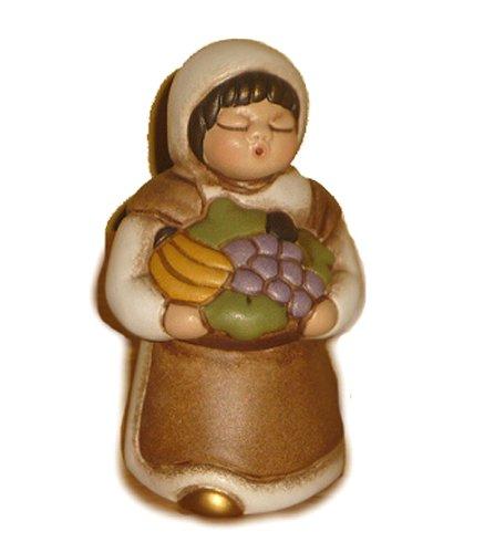 Thun presepe classico - pastorella con cesto di frutta - bianco-s676a83