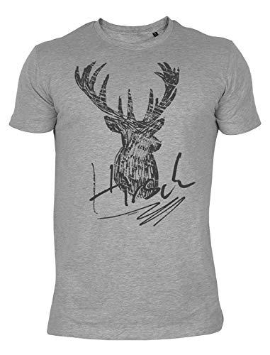 Landhaus T-Shirt im Trachtenlook: Hirsch - Hirsch Herren T-shirt