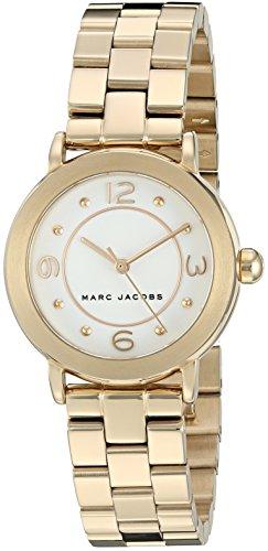 Marc Jacobs-Orologio da donna al quarzo con Display analogico, colore: oro e MJ3473 Bracciale in acciaio INOX, colore: oro