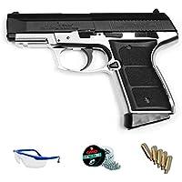 PACK pistola de aire comprimido Daisy 5101 Blowback - Arma de CO2 y balines BBs (perdigones de acero) <3,5J