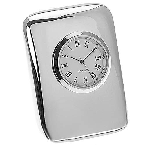 Noble Reloj Reloj de Mesa sin Tic Tac 7,2 X 5,2 cm...