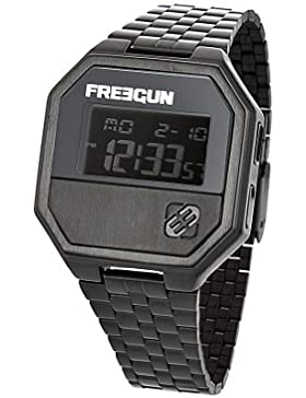 Freegun EE5098-Herren UHR-Digital-Analog Metall Schwarz