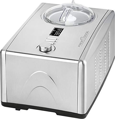 Profi Cook PC-ICM 1091 N / 2 in 1 - Eiscreme- und Joghurt-Maker in Einem / für bis zu 1500 ml Eiscreme bzw. Joghurt / professionelle Kompressorkühlung / hochwertiges LCD-Display / Edelstahlgehäuse