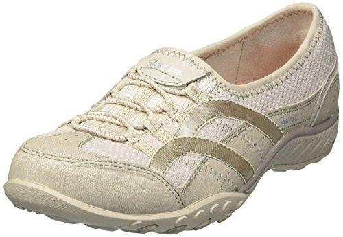 Skechers Damen Breathe Easy-Well Versed Slip On Sneaker Beige (Natural)