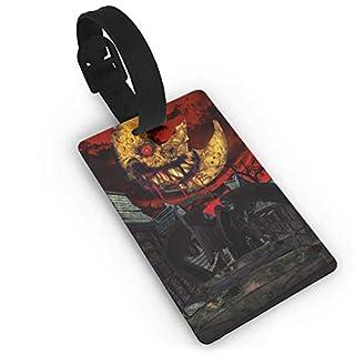 Luggage Tags with Halloween Bloody Moon Printing ID Lable Baaggage Hanbdag Id Tag