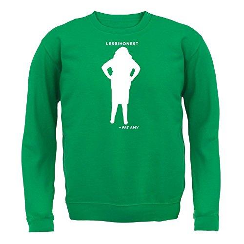Lesbihonest - Fat Amy - Unisex Pullover/Sweatshirt - 8 Farben Grün