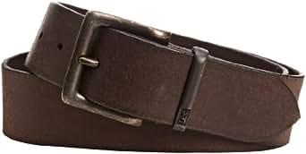 Lee Men's Metal Buckle Belt, Dark Brown, X-Large