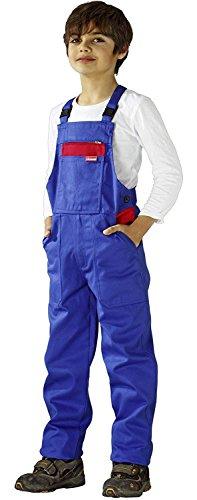 Kinder Klempner Kostüm - 0164 Planam Kinderlatzhose kornblau/rot 146/152,Kornblau/Rot