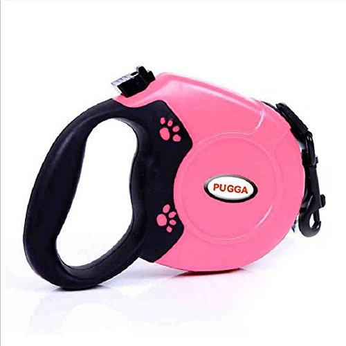 owikar Flexible Hundeleine stabilem Nylon Pet Leinen mit One Button Bremse & Lock und ergonomische Hand Grip Suit für mittelgroße Hunde für Outdoor Sport Training Laufen Wandern Joggen (One Xl Leder)