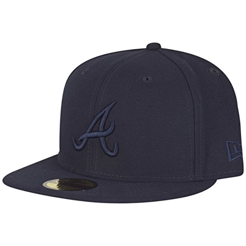 New Era Homme Casquettes / Fitted Tonal Poly Atlanta Braves 59Fifty Marine