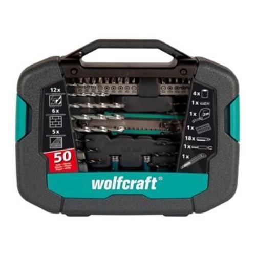 WOLFCRAFT - MALETIN 50 PIEZAS BROCAS + ACCESORIO 8602000
