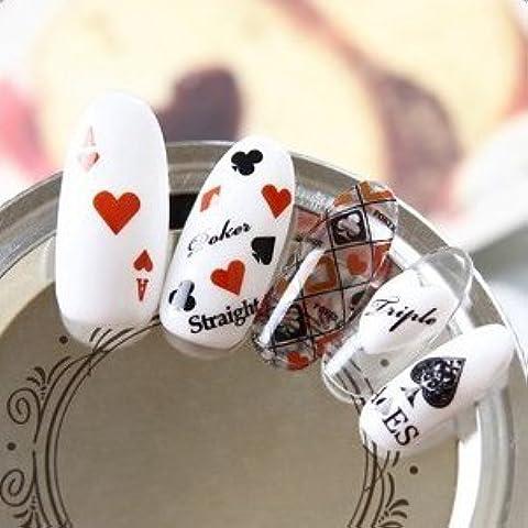 Arte de uñas: Calcomanías y autoadherentes Calcomanía Transferible con Agua DTLS234 Pegatina Tatuaje para Uñas Nail Sticker -