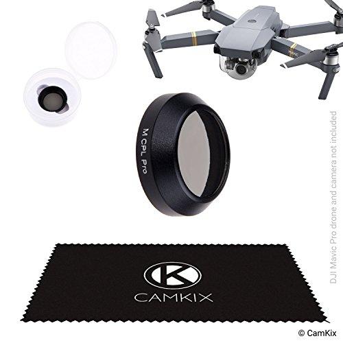 CamKix® PL Filter Kompatibel mit DJI Mavic Pro/Platinum - Polarisationsfilter (PL), Einem Filteraufbewahrungsbehälter - Beugt Reflexionen im Wasser/in Glas vor - Tiefere Farbtöne - Regenbogen-kamera-objektiv