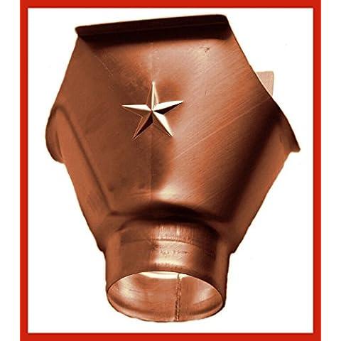 Einhänge Calzettoni 285lampada rame per grondaie con tubo scarico in 76, 80, 87e 100mm