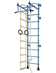 Equipamiento Deportivo De Acero Inoxidable Barras De Pared Ajuste Superior M2 - Azul, para espacios 220-270 cm