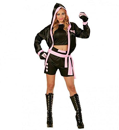 Damen Kostüm Sexy Boxer Sportlerin Verkleidung Top Shorts Mantel Boxhandschuhe, (Sexy Kostüme Boxer Halloween)
