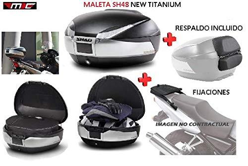 SHAD Kit BAUL Maleta Trasero SH48 Titanium litros