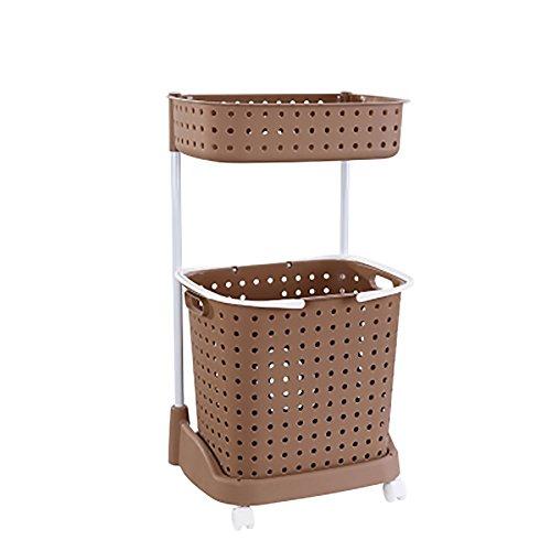 Große tragbare Wäschekorb Kleidung Sortierer Wäschekorb Aufbewahrungsbox kann für Kleideraufbewahrung Körbe Kleidung Haus und Bad verwendet werden brown