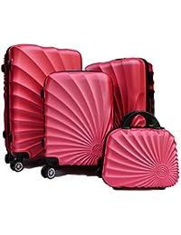 6dd716acd2 R.Leone Valigia Fino a Set 4 Trolley Rigido grande, medio, bagaglio a