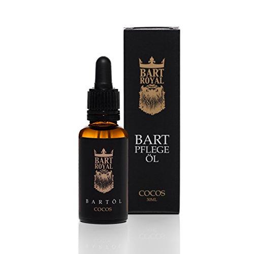 Bart Royal Bartöl Cocos, macht den Bart weich und geschmeidig, pflegt Bart und Haut, hilft gegen Juckreiz, Bartpflege Made in Germany, 1 x 30ml