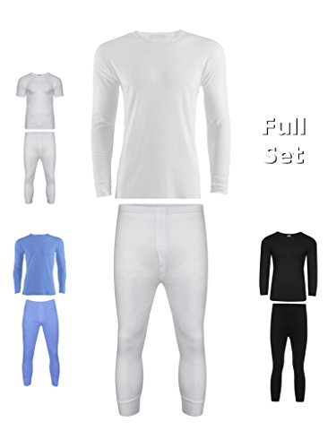 Mens Thermal Long Johns / Bottoms Trousers, Long Sleeve T Shirt Top longjohn sets Vest Underwear perfect for cold winter days