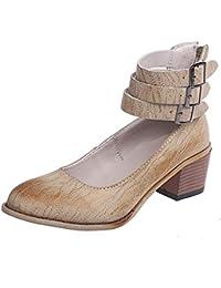 2917043b535ab Zapato de Vestir Mujer Alto Tacón Elegante Puntiagudo Plataforma  Transpirable Verano Primavera Fiesta Vestido…