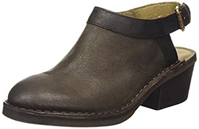 Fly London DEYO894FLY, Women'S Mules, Beige (Ground/Black), 3 UK (36 EU)