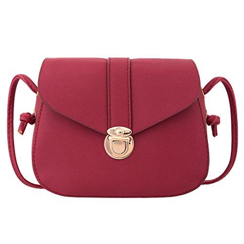 Multi-mo, Borsa a spalla donna rosa Pink Red