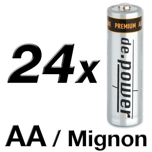 de. power LR0624pezzi di batterie AA alcaline marchi pile mignon