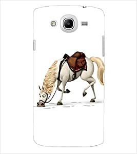 ColourCraft Horse Back Case Cover for SAMSUNG GALAXY MEGA 5.8 I9150 / I9152