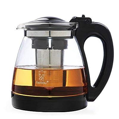 WYJW Théière en Verre avec infuseur Amovible en Acier Inoxydable \u0026 ndash; Parfait pour Le thé en Vrac et Le thé en Fleurs (Taille: 2L)