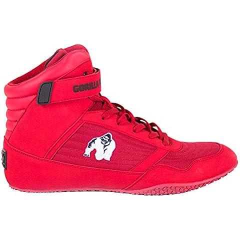Gorilla Wear Bodybuilding scarpe alte cime nero e rosso (rosso-bianco,