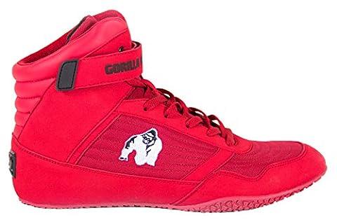Gorilla Wear Bodybuilding Chaussures Hauts Tops Noir et Rouge (Rouge-Blanc, 44)