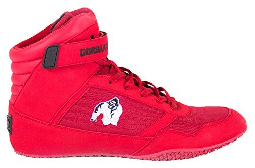 Gorilla Wear Bodybuilding scarpe alte cime nero e rosso rosso-bianco