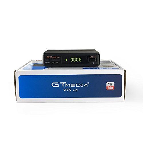 GTMEDIA FREESAT V7S HD actualizacion del v7hd DVB-S2 Receptor de TV Retransmisión de Video Digital Receptor de 1080P HD Receptor de TV USB EPR para TV HDTV Enchufe de la UE + WiFi Incorporado