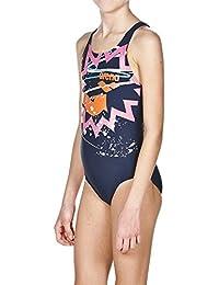 Arena Chica Sport Rook–Bañador, niña, Sport Badeanzug Rook, Navy/Multi, 10 años (140 cm)